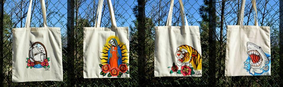 La Luz shopper dipinte a mano