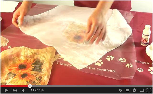 Come fare découpage su un foulard di seta