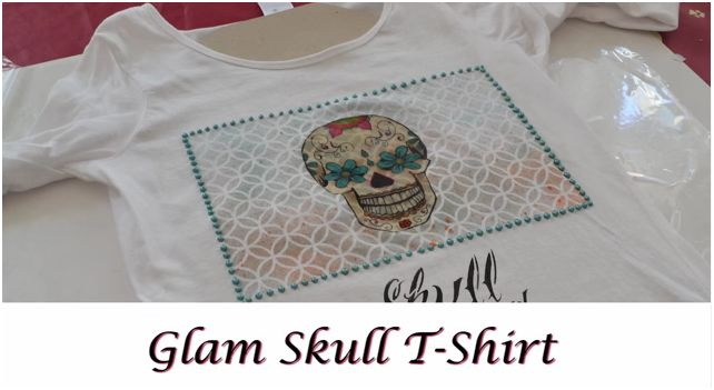 Come decorare una t-shirt in stile rock con stencil e découpage