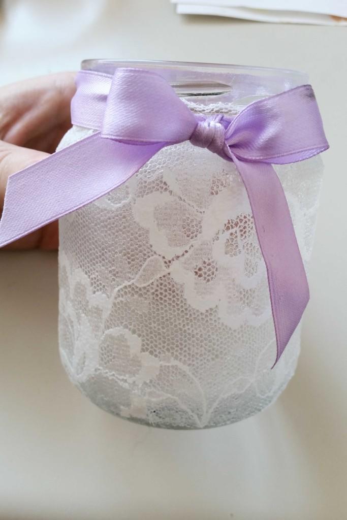 creare un portacandele con un vasetto di vetro