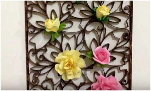 Come realizzare una decorazione floreale da parete