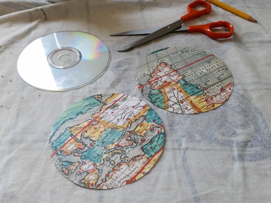 sottobicchiere fatto con cd