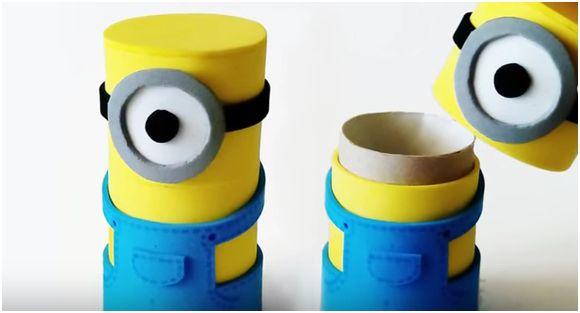 Come creare una scatola portaoggetti Minions