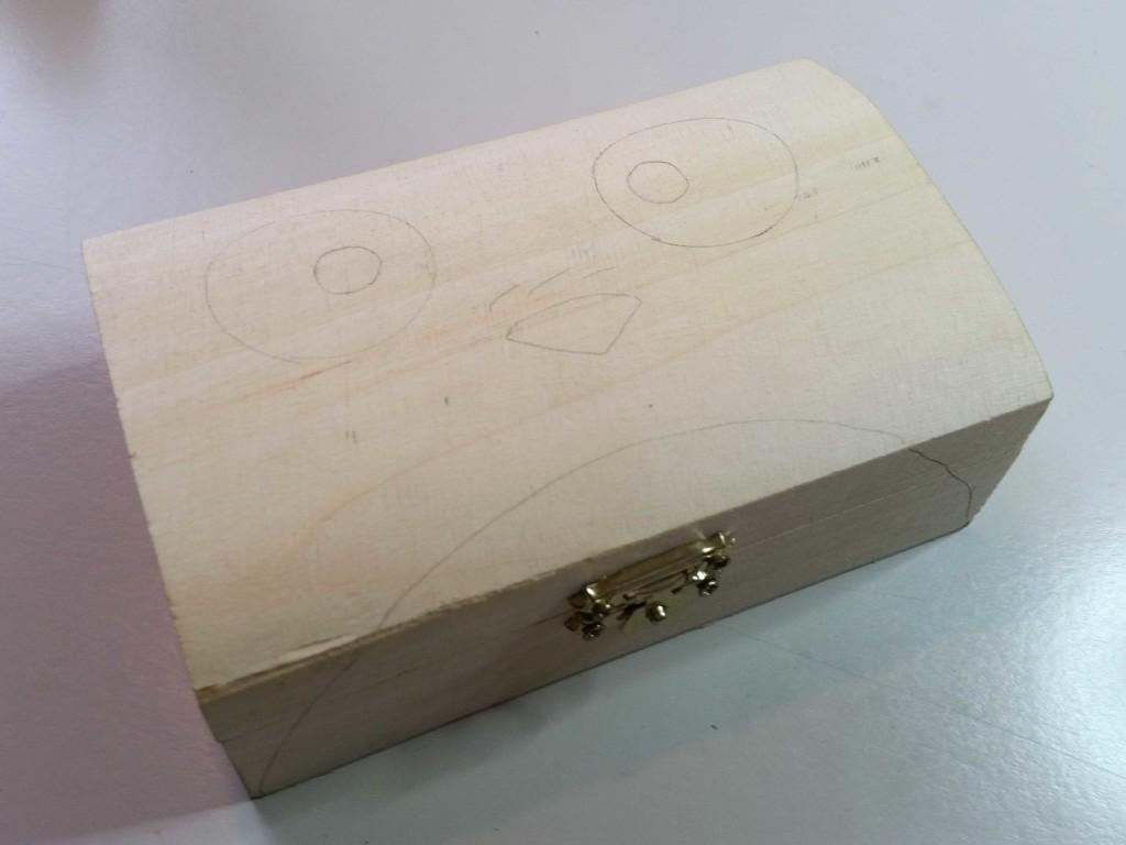 come fare découpage su scatola di legno