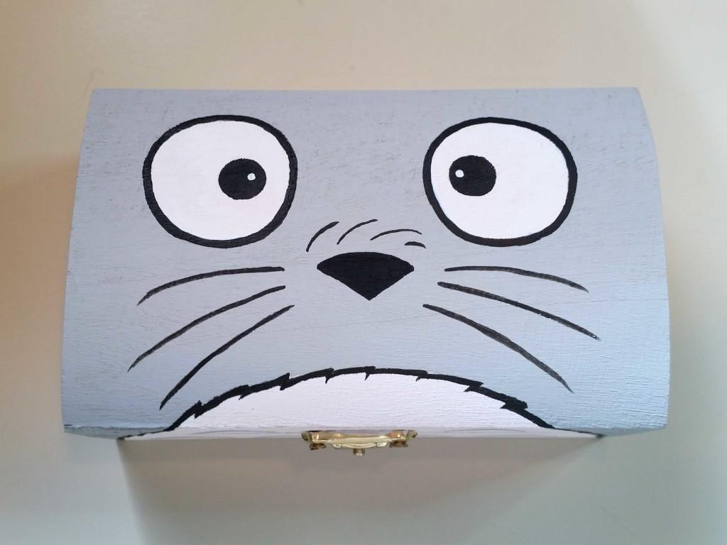 come decorare una scatola con fumetti totoro