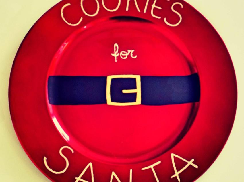 Come decorare il piatto dei biscotti di Babbo Natale