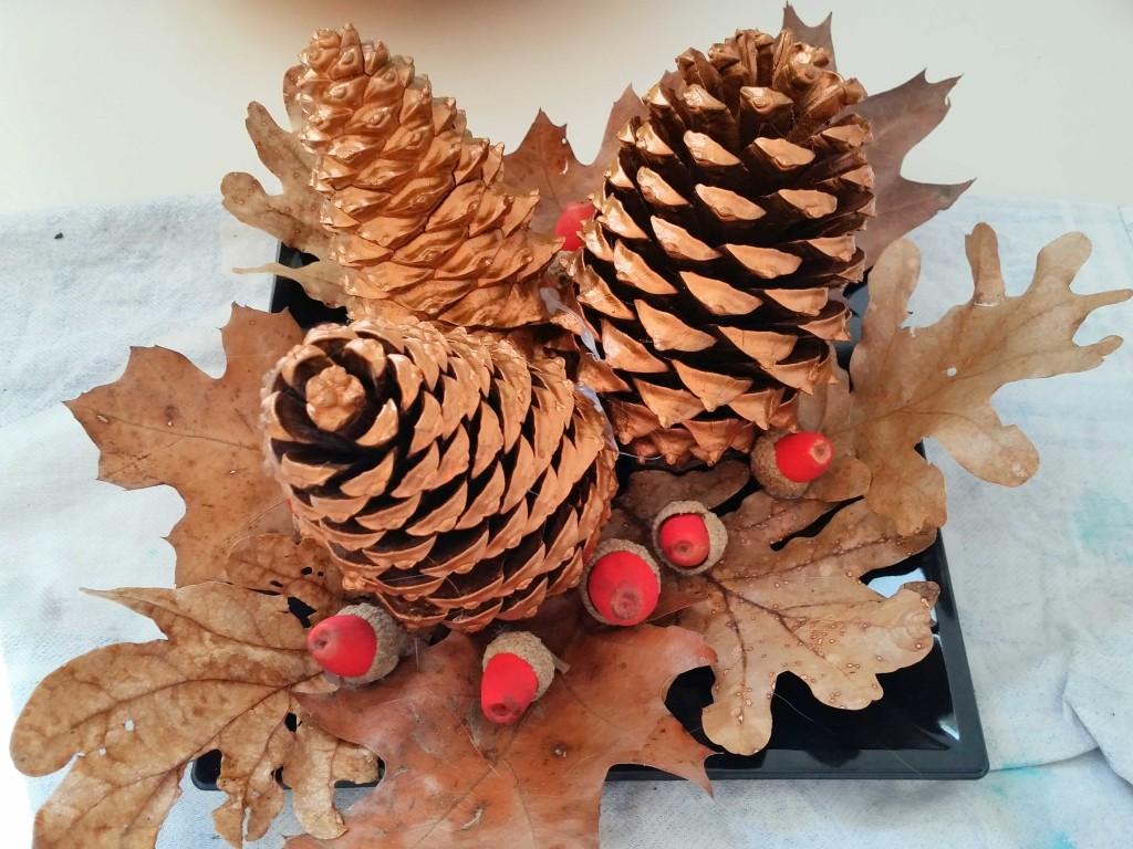 come decorare un centrotavola per Natale