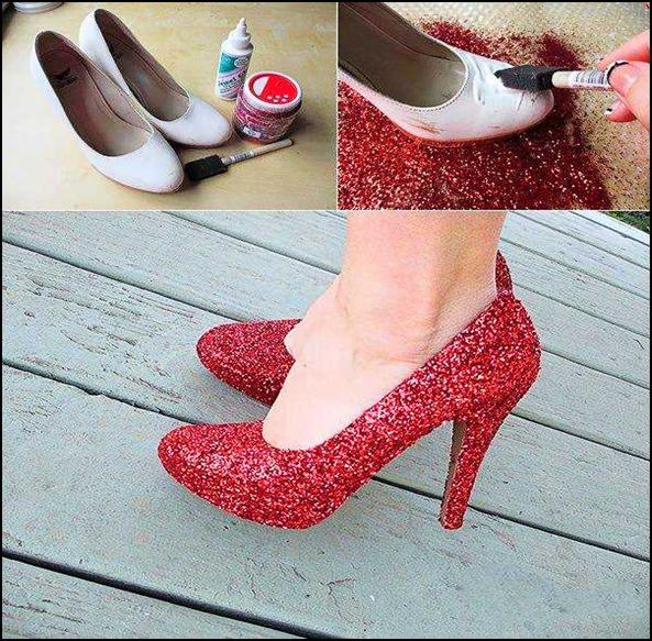 Come creare le scarpe glitterate
