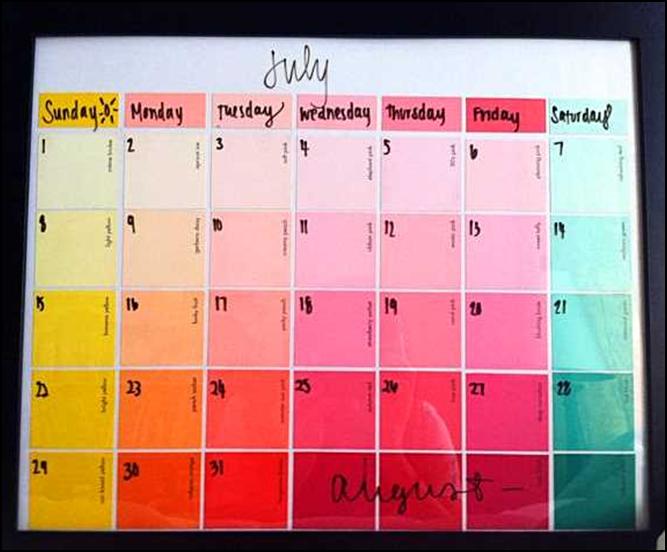 Come creare un calendario mensile super colorato
