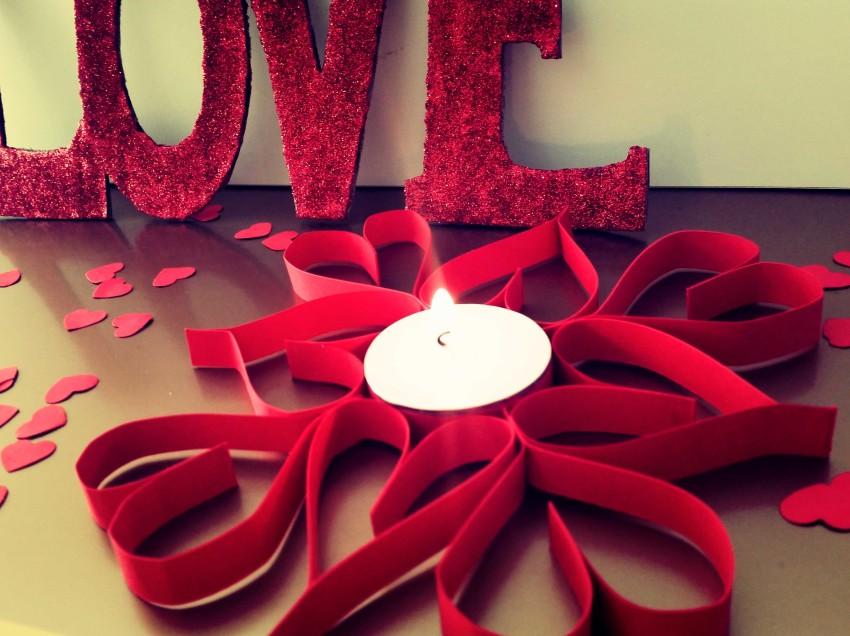 Come realizzare un portacandela con i cuori per San Valentino
