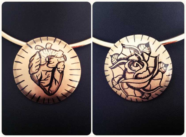 come fare gioielli in metallo dipinti a mano