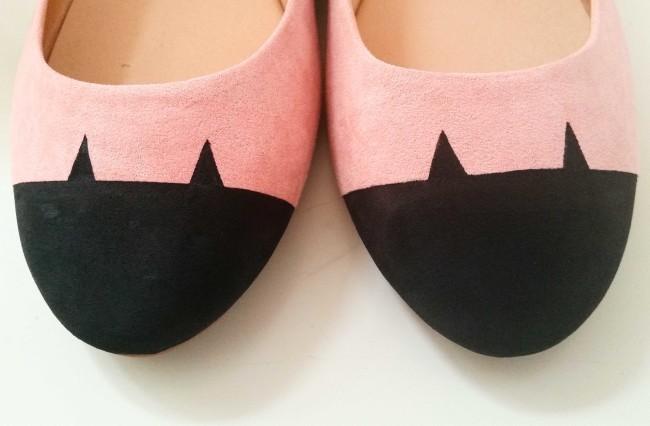 come dipingere scarpe con gatto