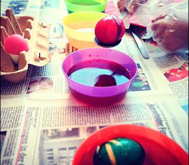 Come dipingere le uova sode per Pasqua